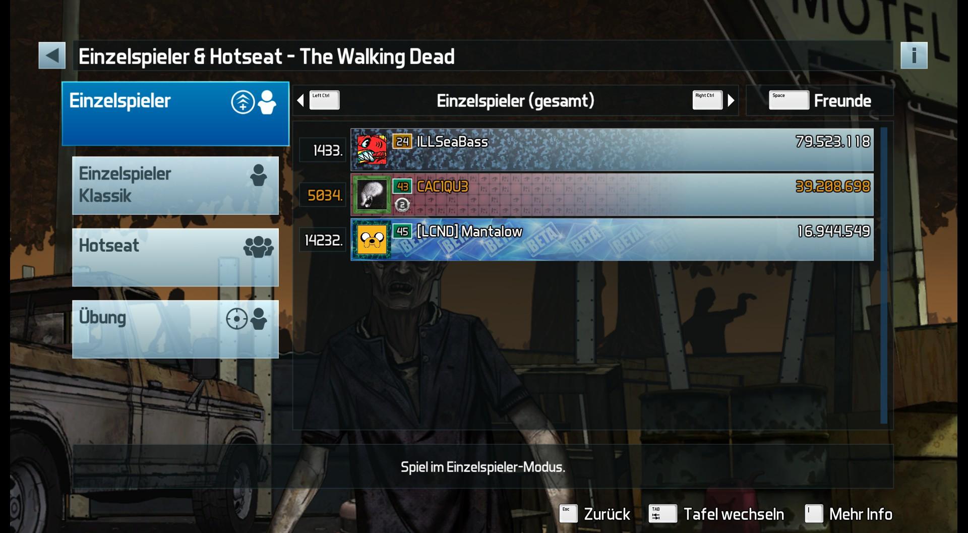Pinball FX3: The Walking Dead Pinball 39,208,698 points