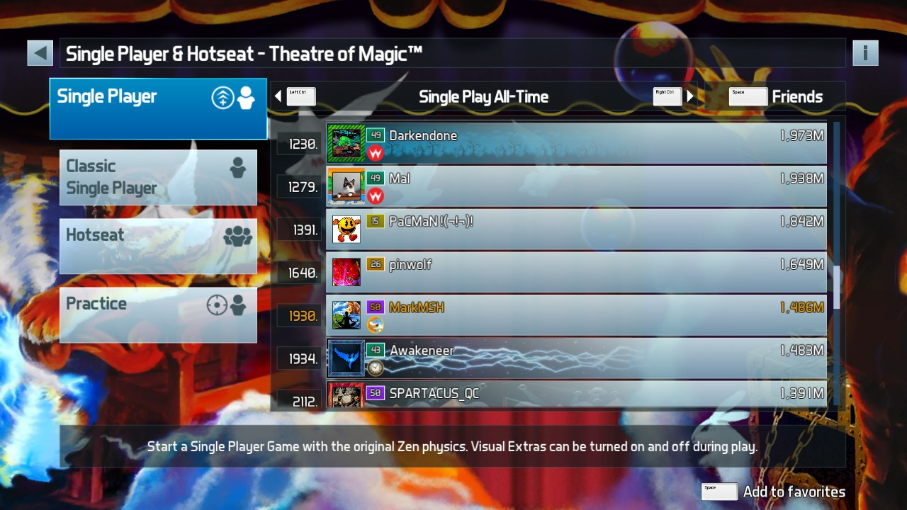 Mark: Pinball FX3: Theatre of Magic [Standard] (PC) 1,486,566,100 points on 2019-05-18 03:46:00