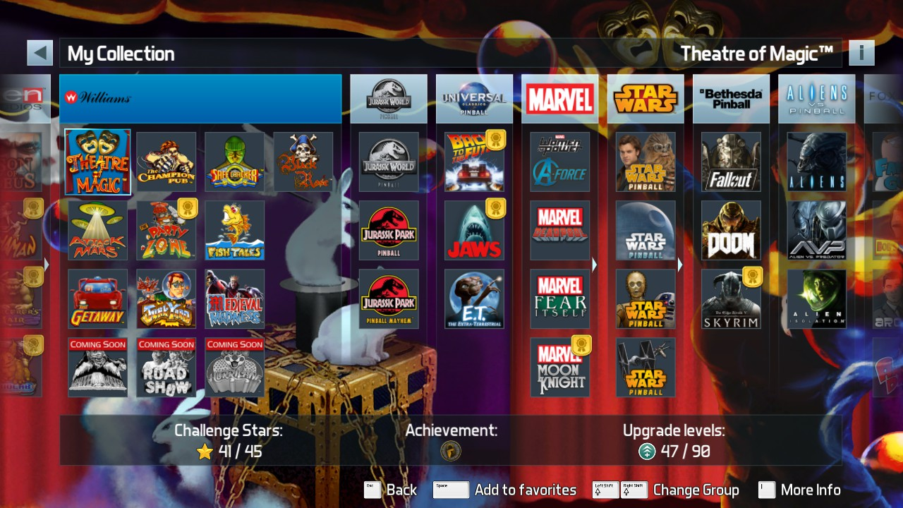 Pinball FX3: Theatre of Magic [Standard] 1,486,566,100 points