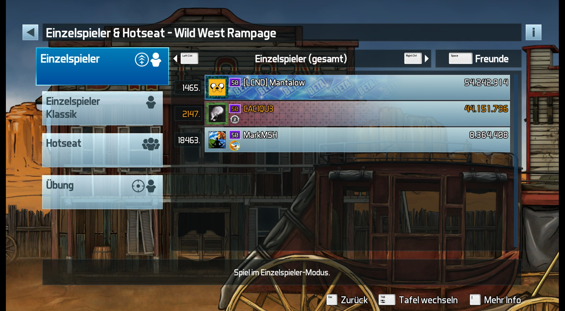 CAC1QU3: Pinball FX3: Wild West Rampage (PC) 44,151,796 points on 2019-04-26 00:24:48