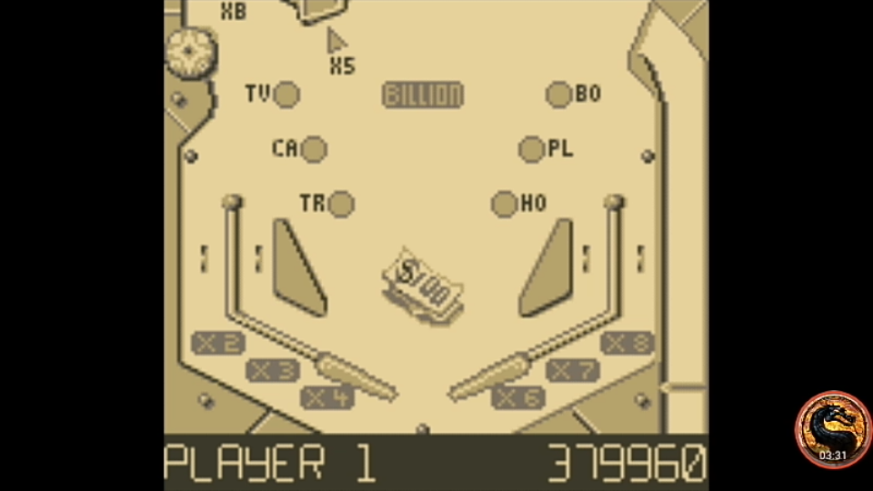 omargeddon: Pinball Fantasies: Billion Dollar Gameshow (Game Boy Emulated) 379,960 points on 2019-11-24 23:05:32