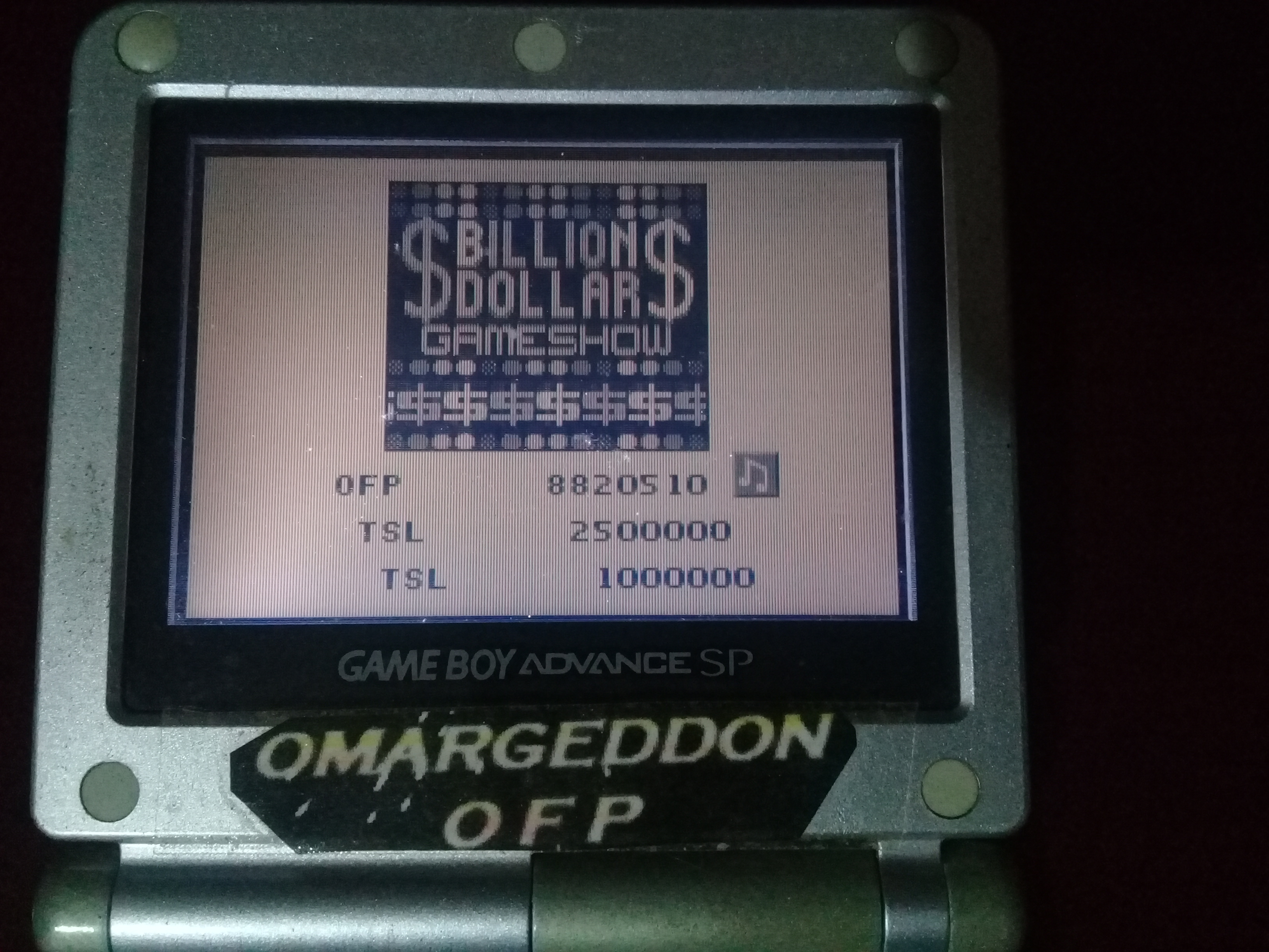 omargeddon: Pinball Fantasies: Billion Dollar Gameshow (Game Boy) 8,820,510 points on 2020-05-08 20:31:00
