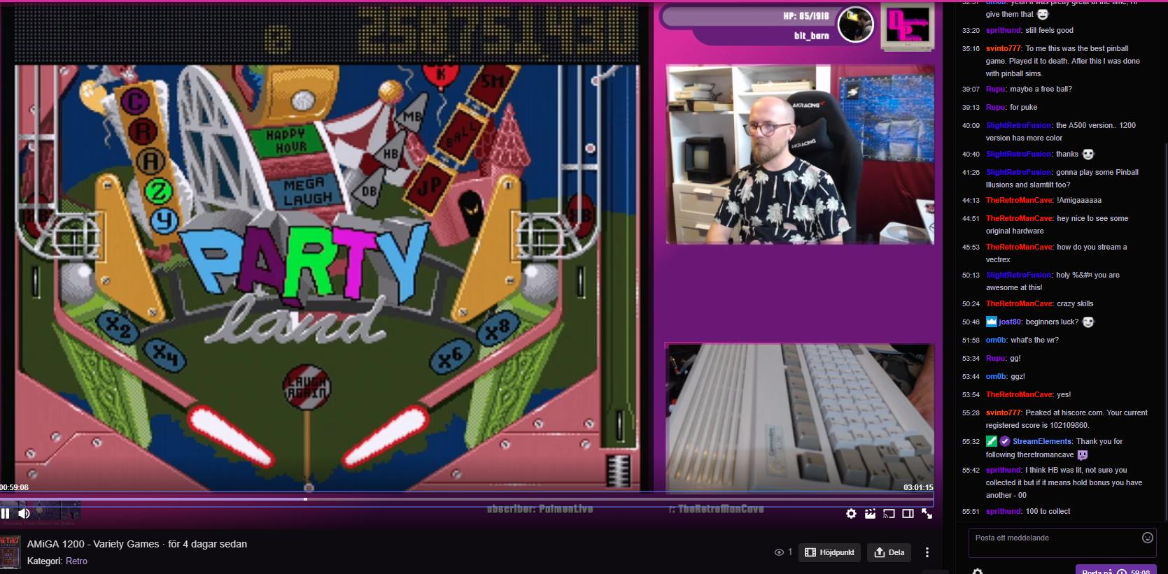 Domedagspoeten: Pinball Fantasies: Party Land (Amiga) 258,751,430 points on 2019-06-28 10:13:08