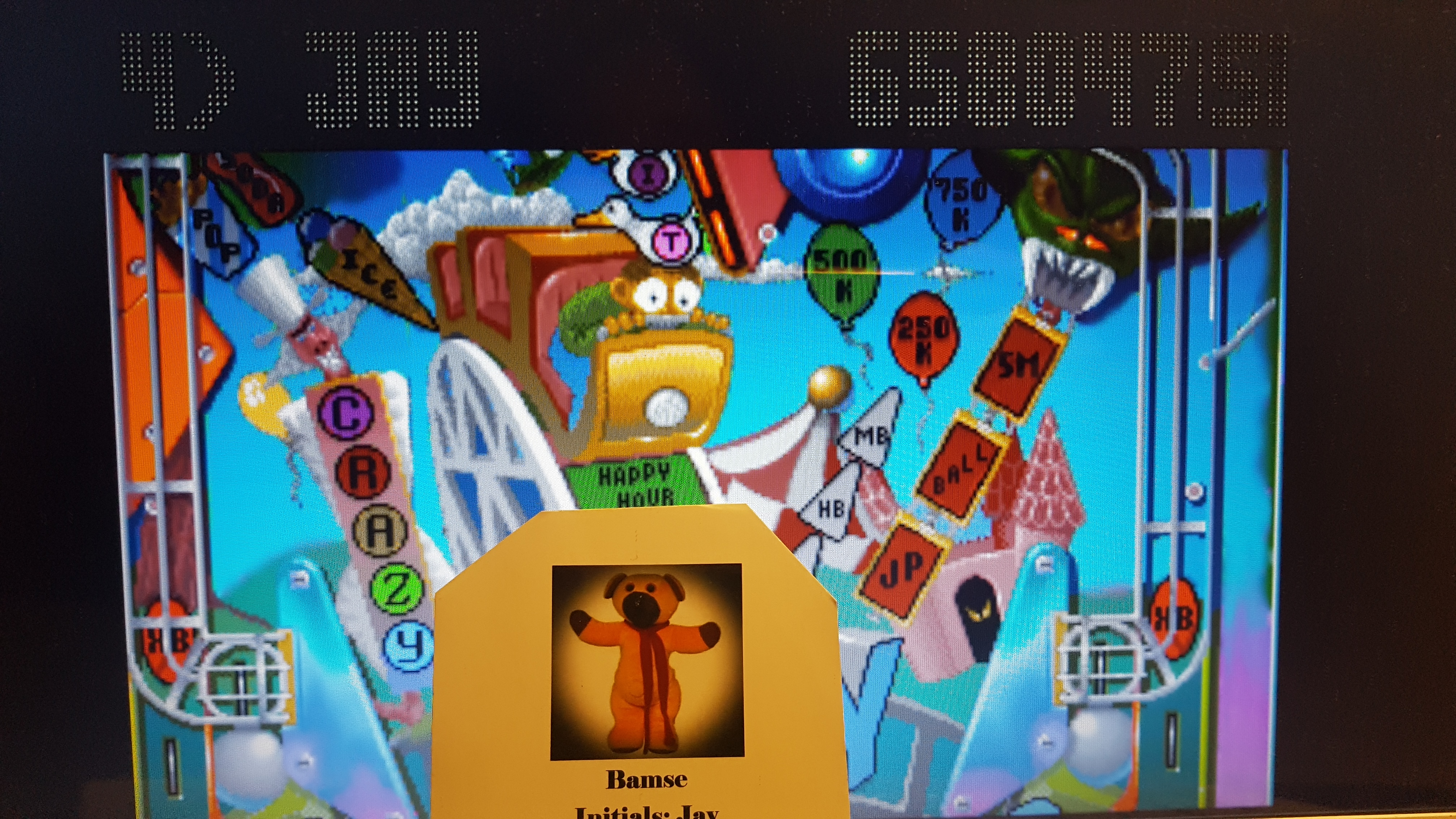 Bamse: Pinball Fantasies: Party Land (Atari Jaguar Emulated) 6,580,470 points on 2019-02-15 13:03:41
