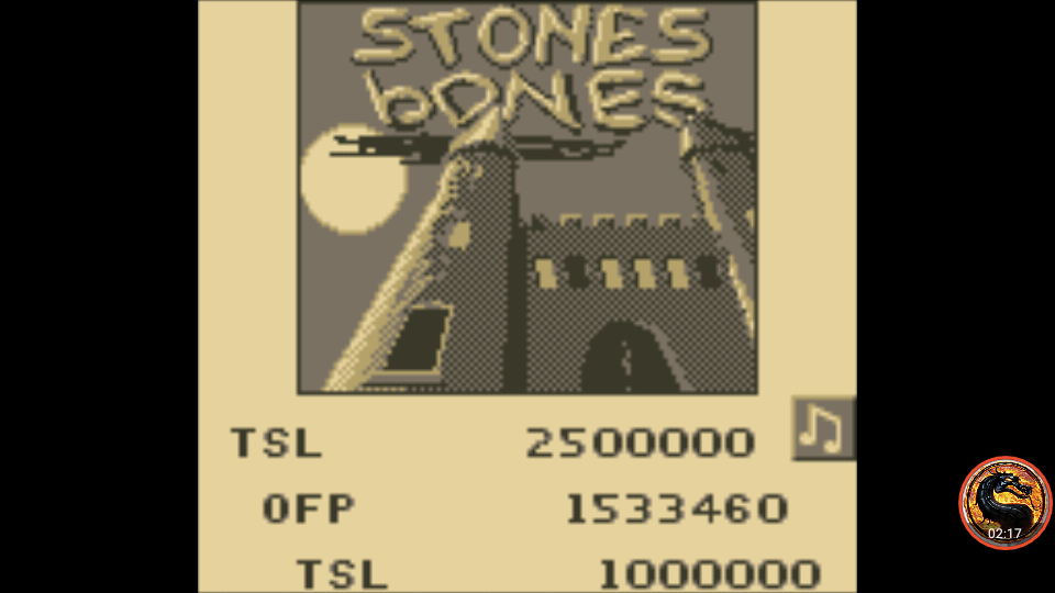 omargeddon: Pinball Fantasies: Stones N Bones (Game Boy Emulated) 1,533,460 points on 2019-11-24 23:11:18