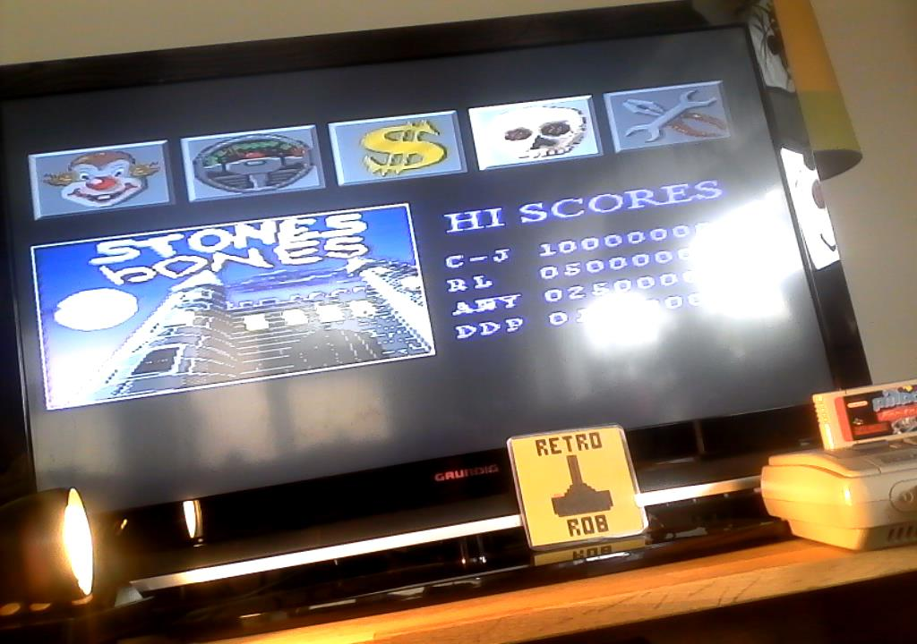 RetroRob: Pinball Fantasies: Stones N Bones (SNES/Super Famicom) 3,797,460 points on 2019-07-12 07:47:51