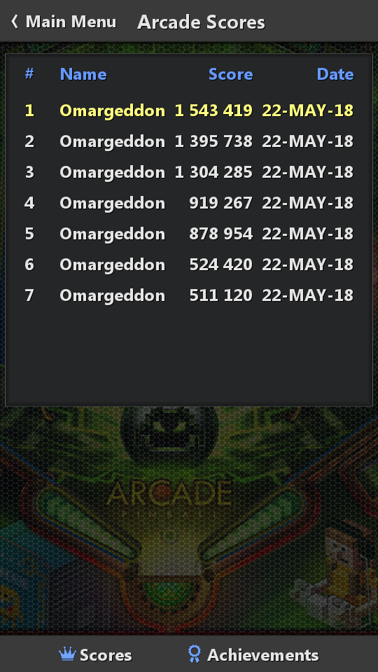 omargeddon: Pinball Fantasy: Arcade (Android) 1,543,419 points on 2018-05-23 20:21:18