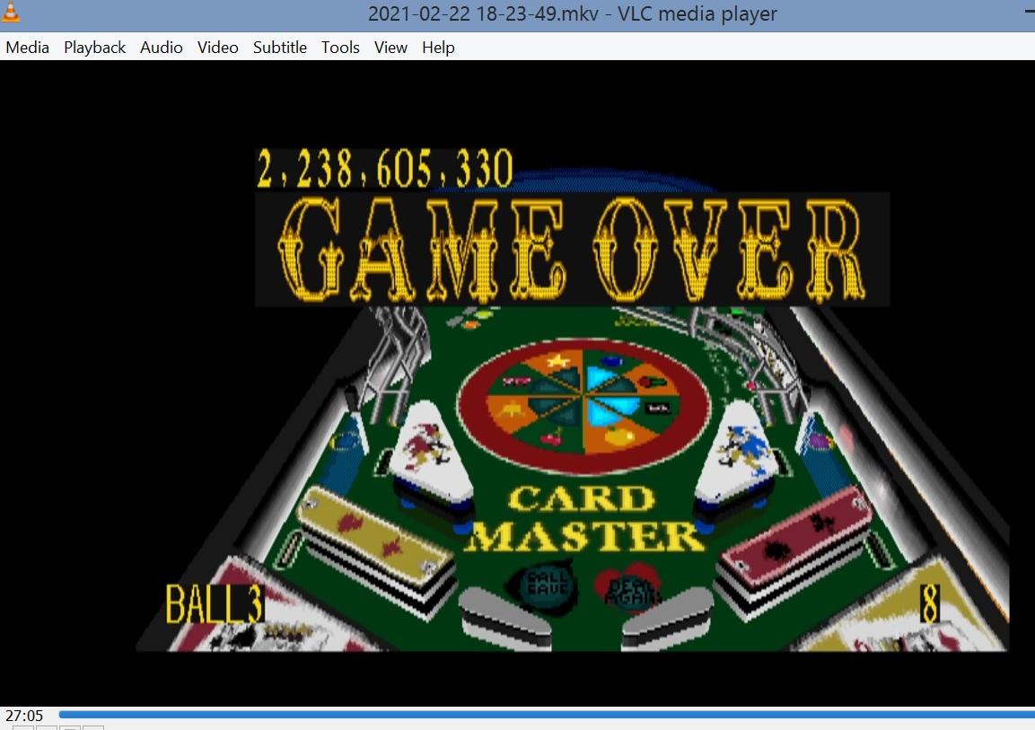 Pinball Graffiti: Card Master 2,238,605,330 points