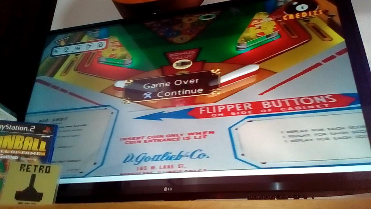 RetroRob: Pinball Hall Of Fame: The Gottlieb Collection: Big Shot [5 Balls] (Playstation 2) 52,970 points on 2020-09-24 12:20:03