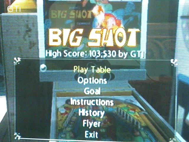 GTibel: Pinball Hall Of Fame: The Gottlieb Collection: Big Shot [5 Balls] (Playstation 2) 103,530 points on 2017-09-02 11:52:21