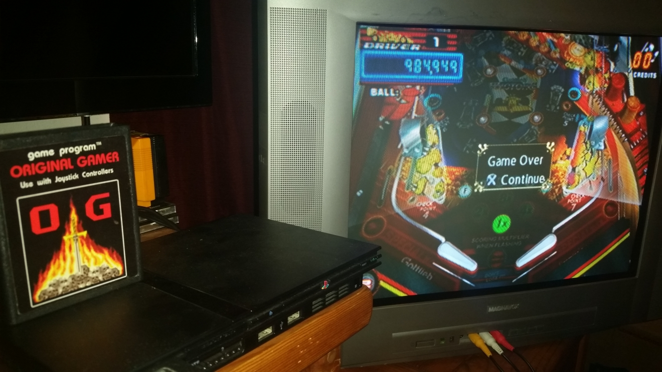 OriginalGamer: Pinball Hall Of Fame: The Gottlieb Collection: Victory [5 Balls] (Playstation 2) 984,949 points on 2016-06-26 20:42:35