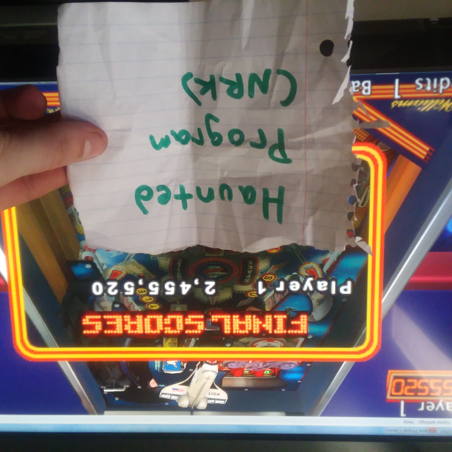 Hauntedprogram: Pinball Hall Of Fame: The Williams Collection: Space Shuttle (PSP Emulated) 2,455,520 points on 2020-10-28 15:04:11