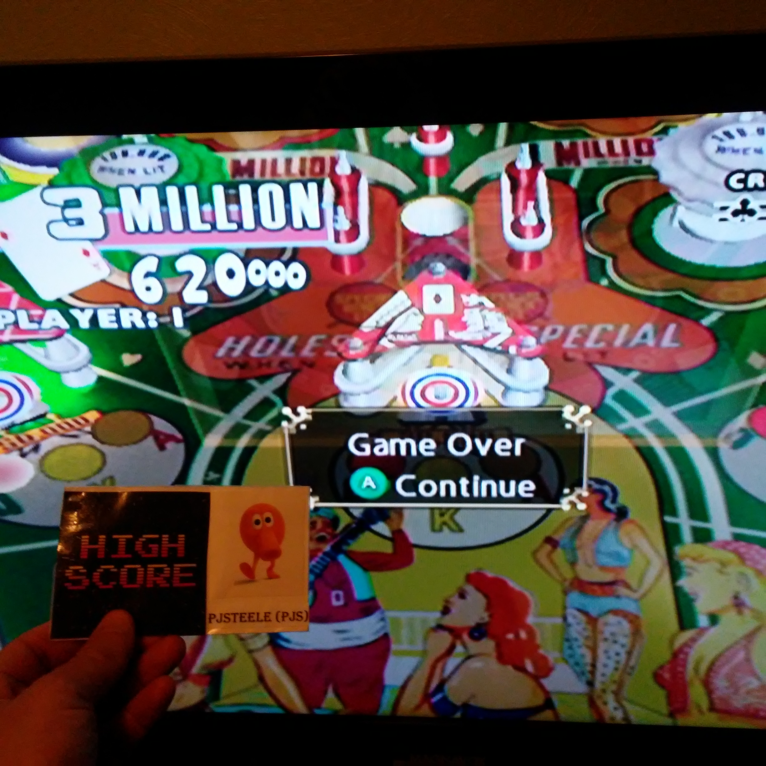 Pjsteele: Pinball Hall of Fame: The Gottlieb Collection: Ace High [5 Balls] (GameCube) 3,620,000 points on 2018-01-17 19:48:47
