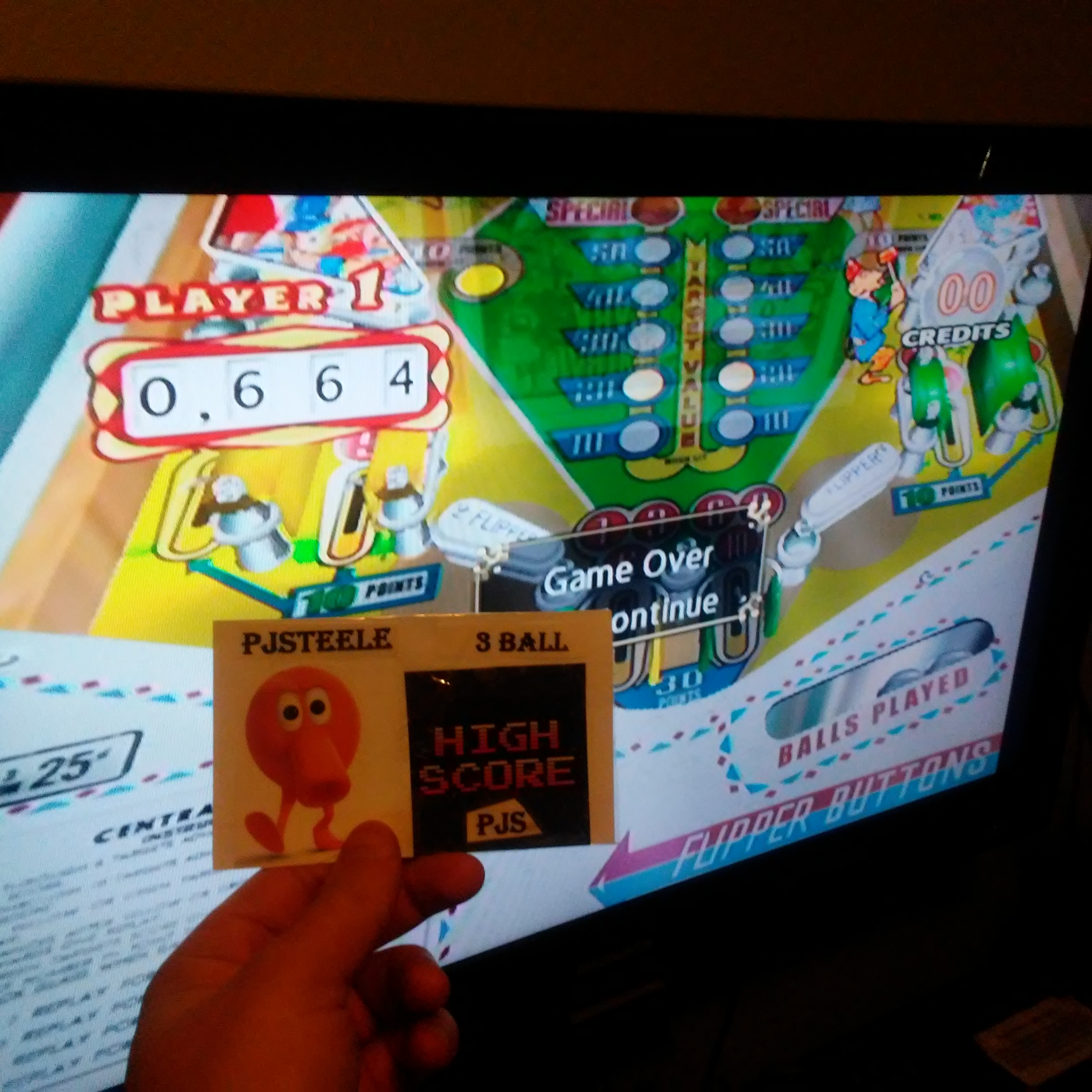 Pjsteele: Pinball Hall of Fame: The Gottlieb Collection: Central Park [3 Balls] (GameCube) 664 points on 2018-01-28 14:29:34