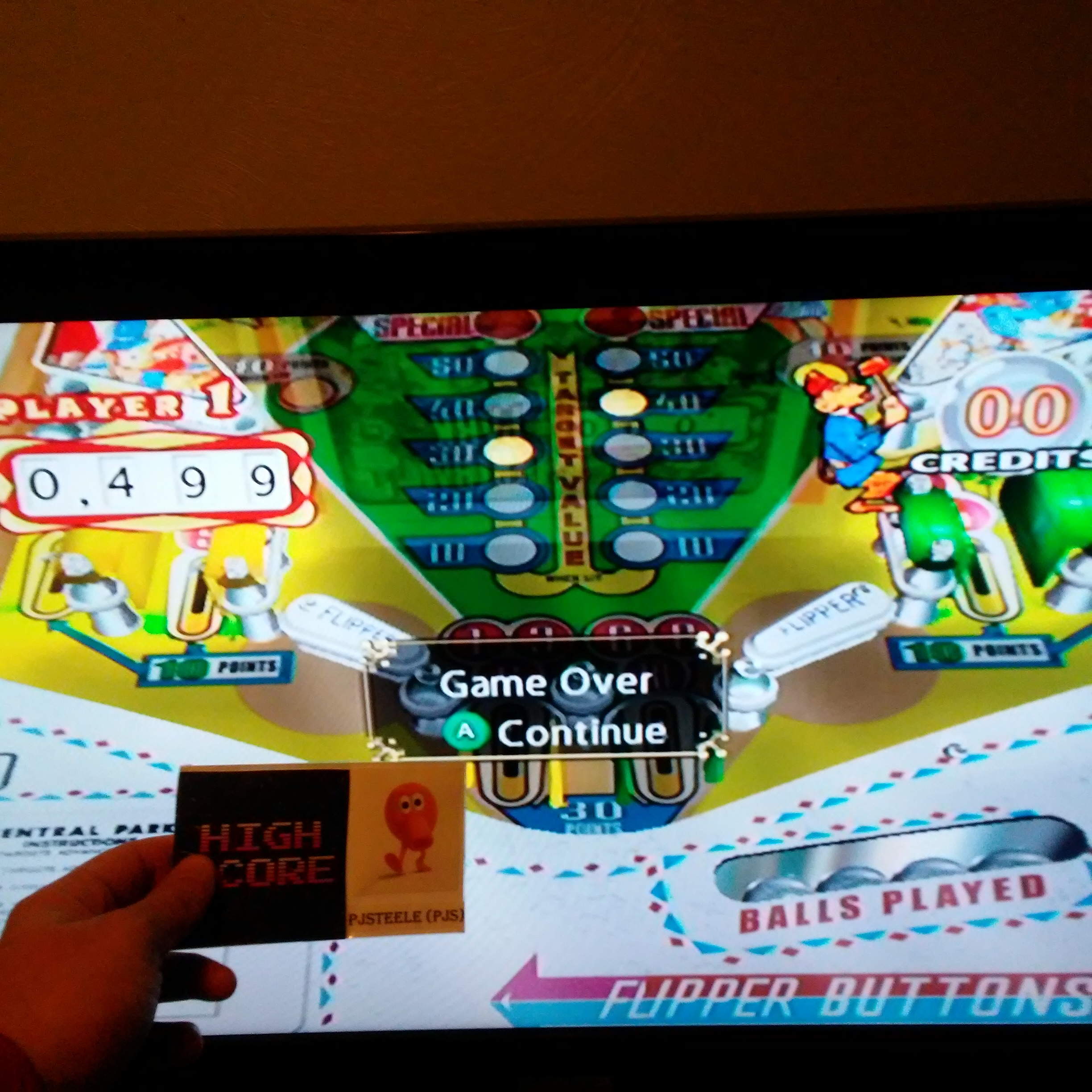 Pjsteele: Pinball Hall of Fame: The Gottlieb Collection: Central Park [5 Balls] (GameCube) 499 points on 2018-01-17 20:00:17