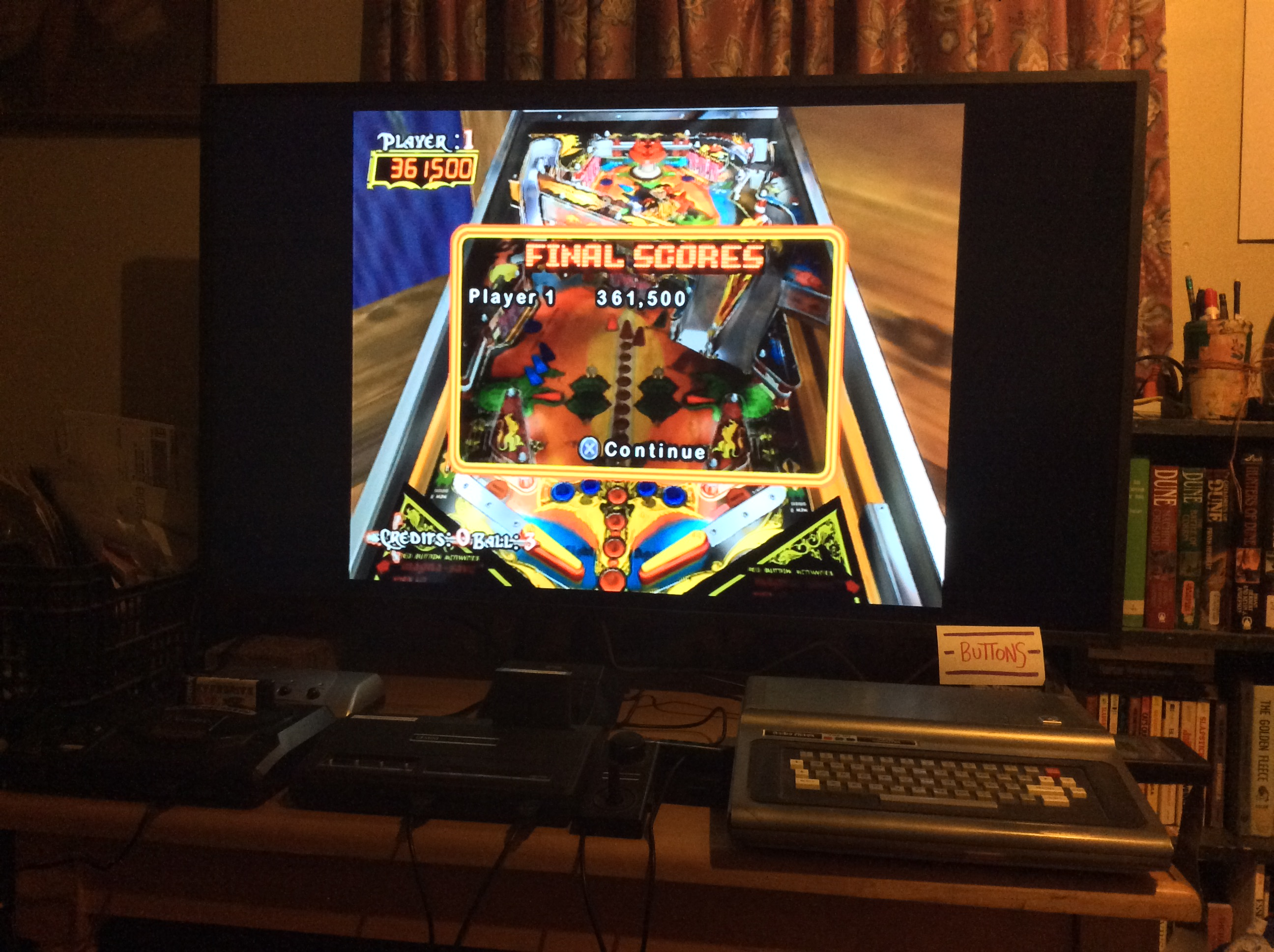 Buttons: Pinball Hall of Fame: The Williams Collection: Black Knight (Playstation 2) 361,500 points on 2020-01-21 06:32:39