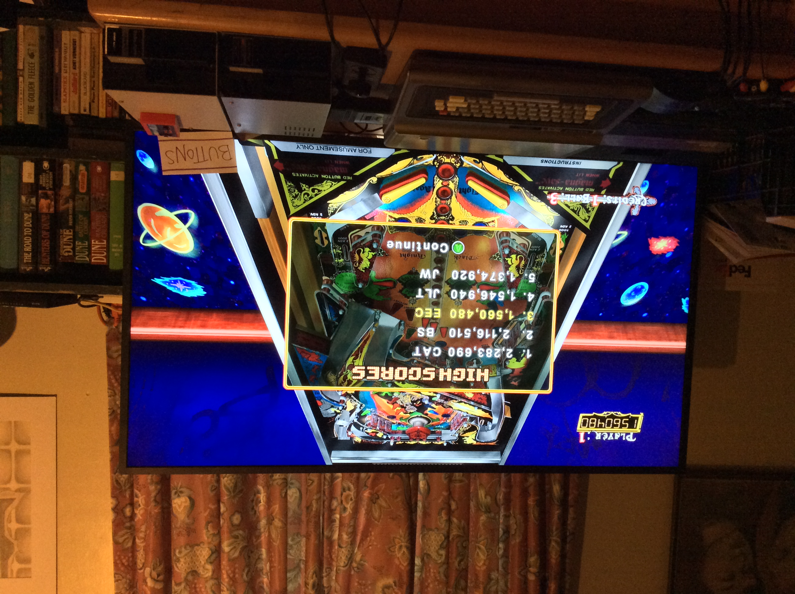 Pinball Hall of Fame: The Williams Collection: Black Knight 1,560,480 points