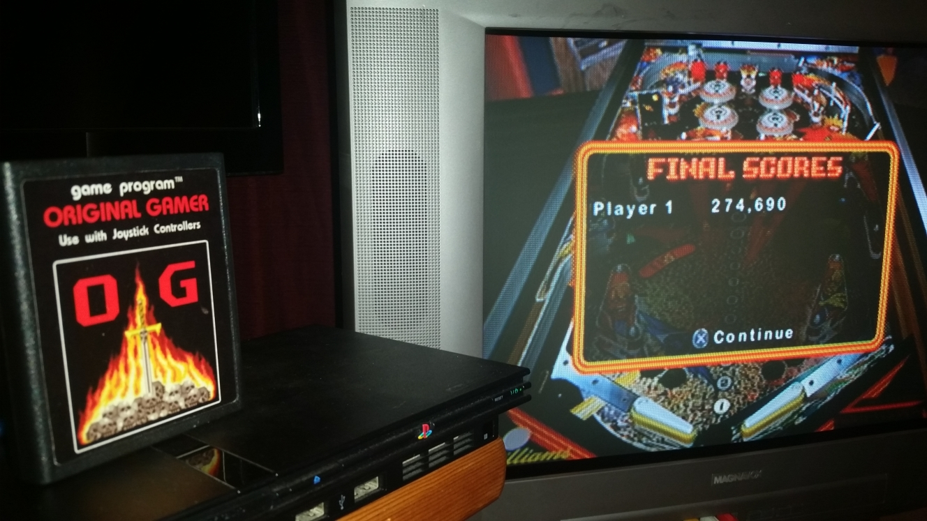 OriginalGamer: Pinball Hall of Fame: The Williams Collection: Firepower (Playstation 2) 274,690 points on 2016-06-16 00:03:20