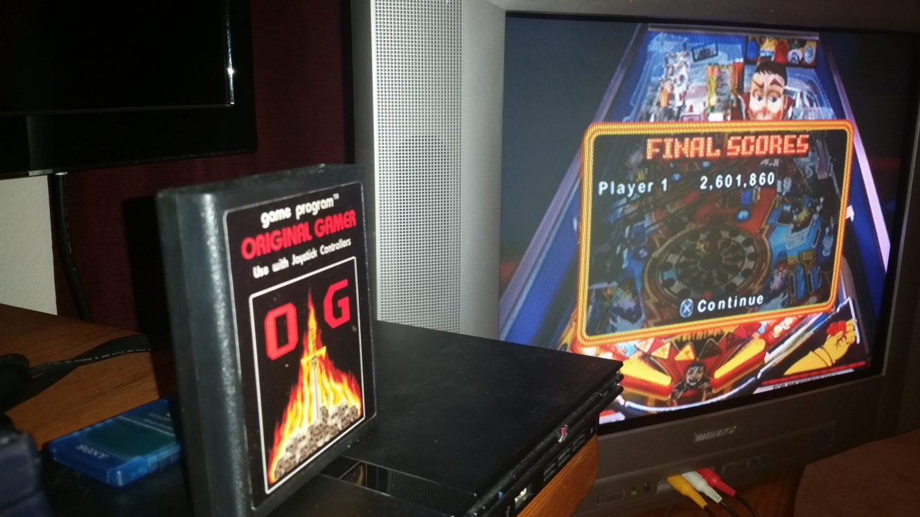 OriginalGamer: Pinball Hall of Fame: The Williams Collection: FunHouse (Playstation 2) 2,601,860 points on 2016-06-15 23:57:52