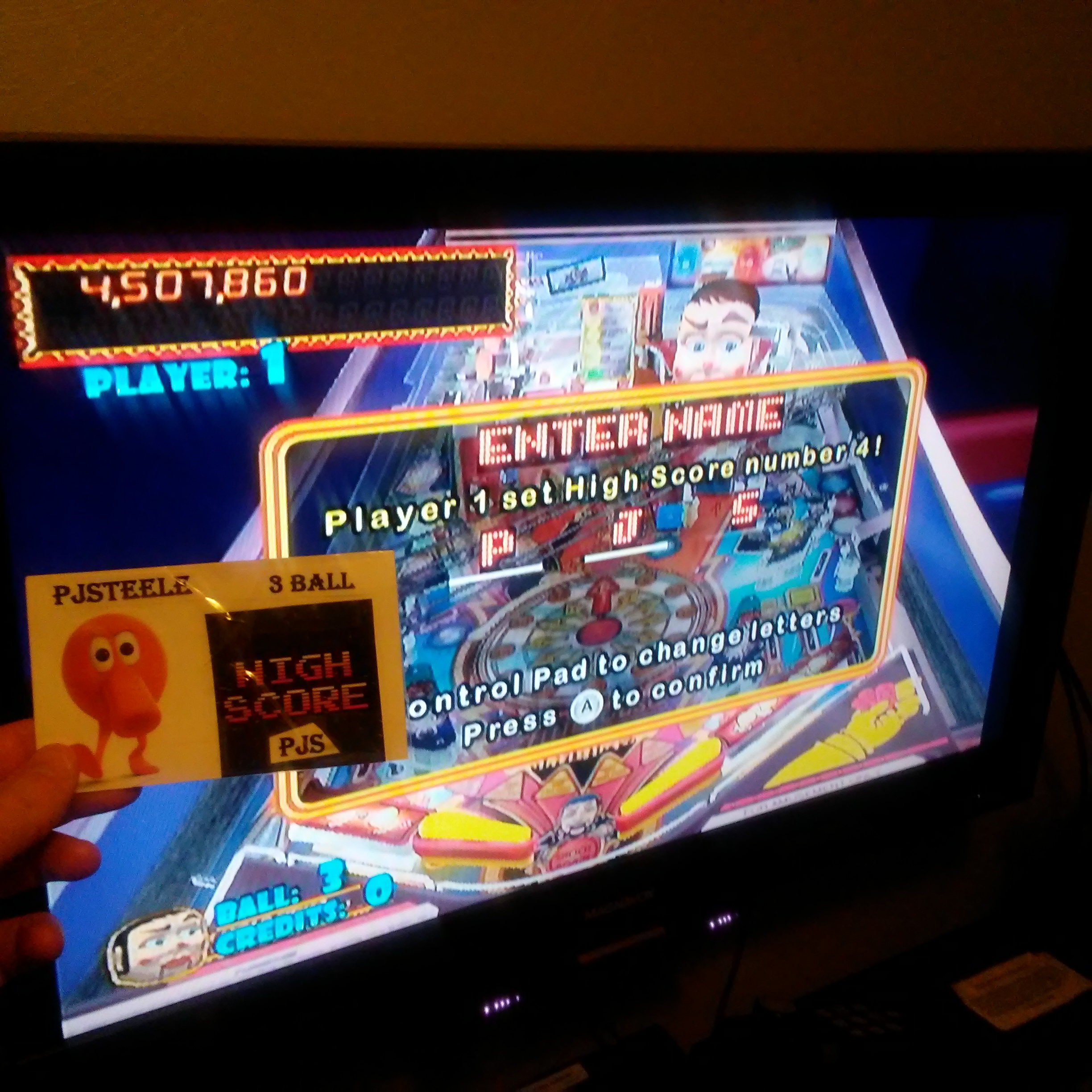 Pjsteele: Pinball Hall of Fame: The Williams Collection: Funhouse (Wii) 4,507,860 points on 2018-02-17 23:54:43