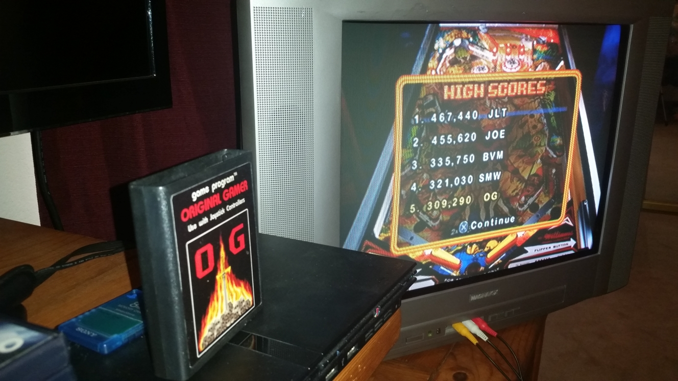 OriginalGamer: Pinball Hall of Fame: The Williams Collection: Gorgar (Playstation 2) 309,290 points on 2016-06-15 23:54:57