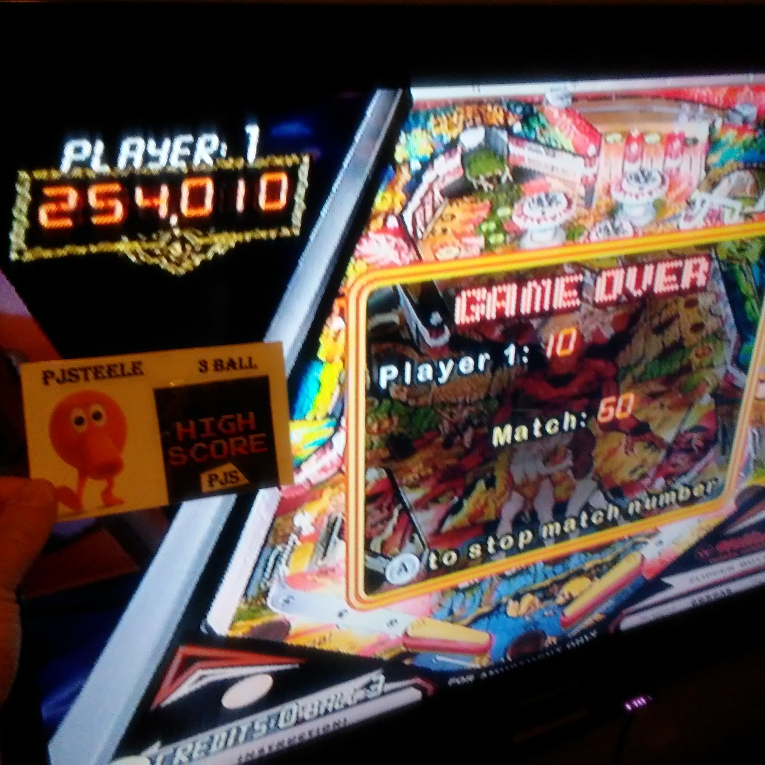 Pjsteele: Pinball Hall of Fame: The Williams Collection: Gorgar (Wii) 254,010 points on 2018-02-17 23:37:25