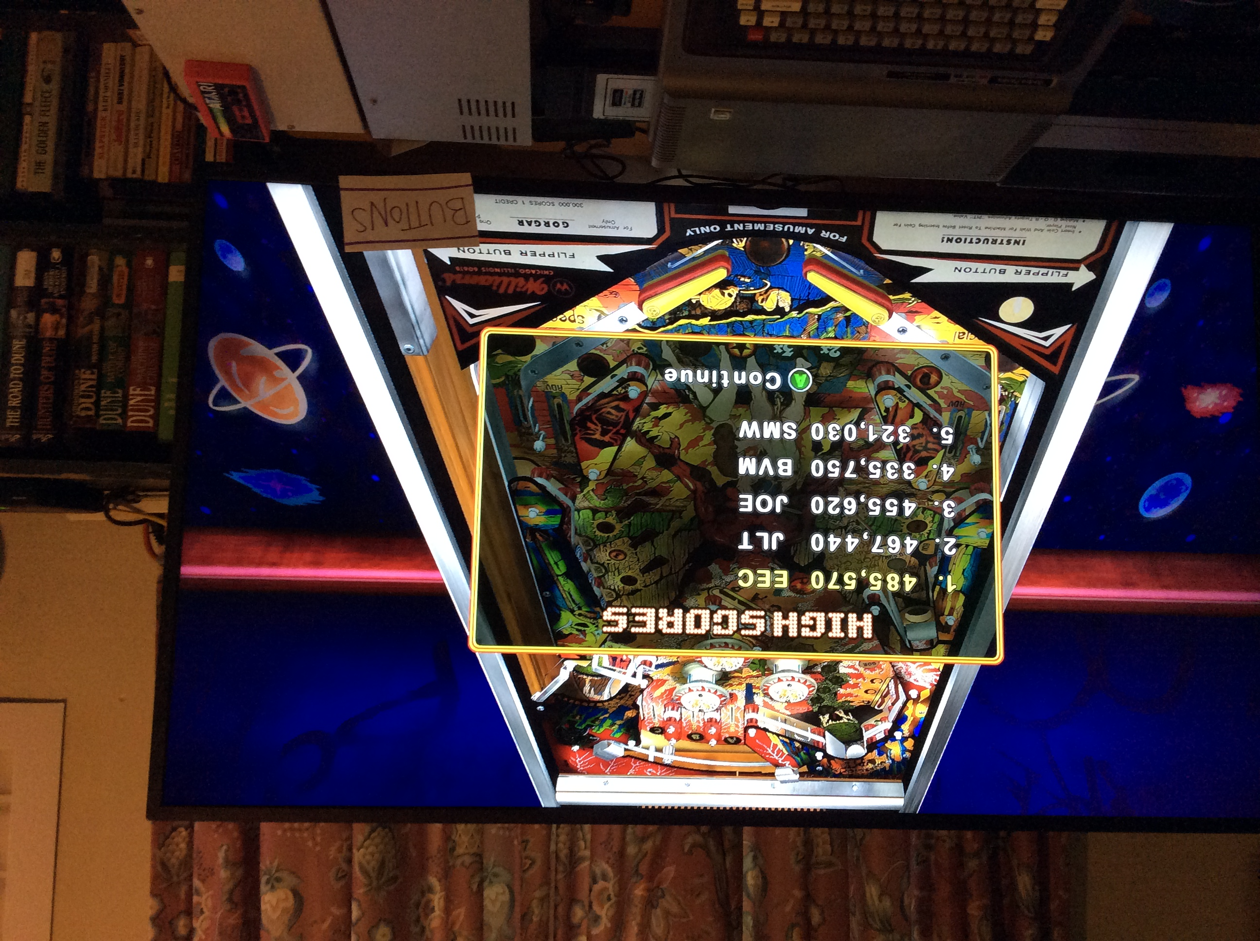 Pinball Hall of Fame: The Williams Collection: Gorgar 485,570 points