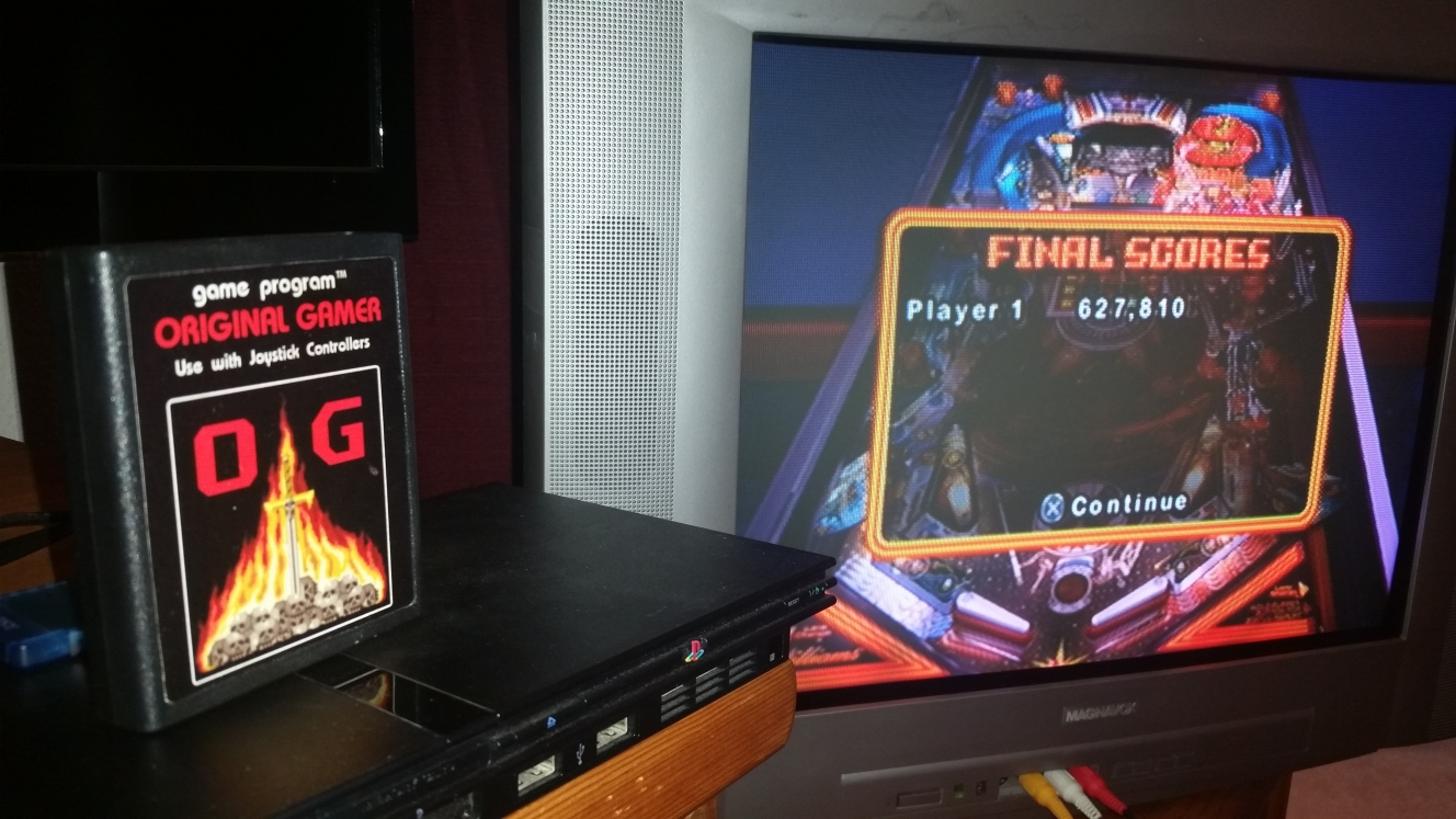 OriginalGamer: Pinball Hall of Fame: The Williams Collection: PIN•BOT (Playstation 2) 627,810 points on 2016-06-16 00:00:33