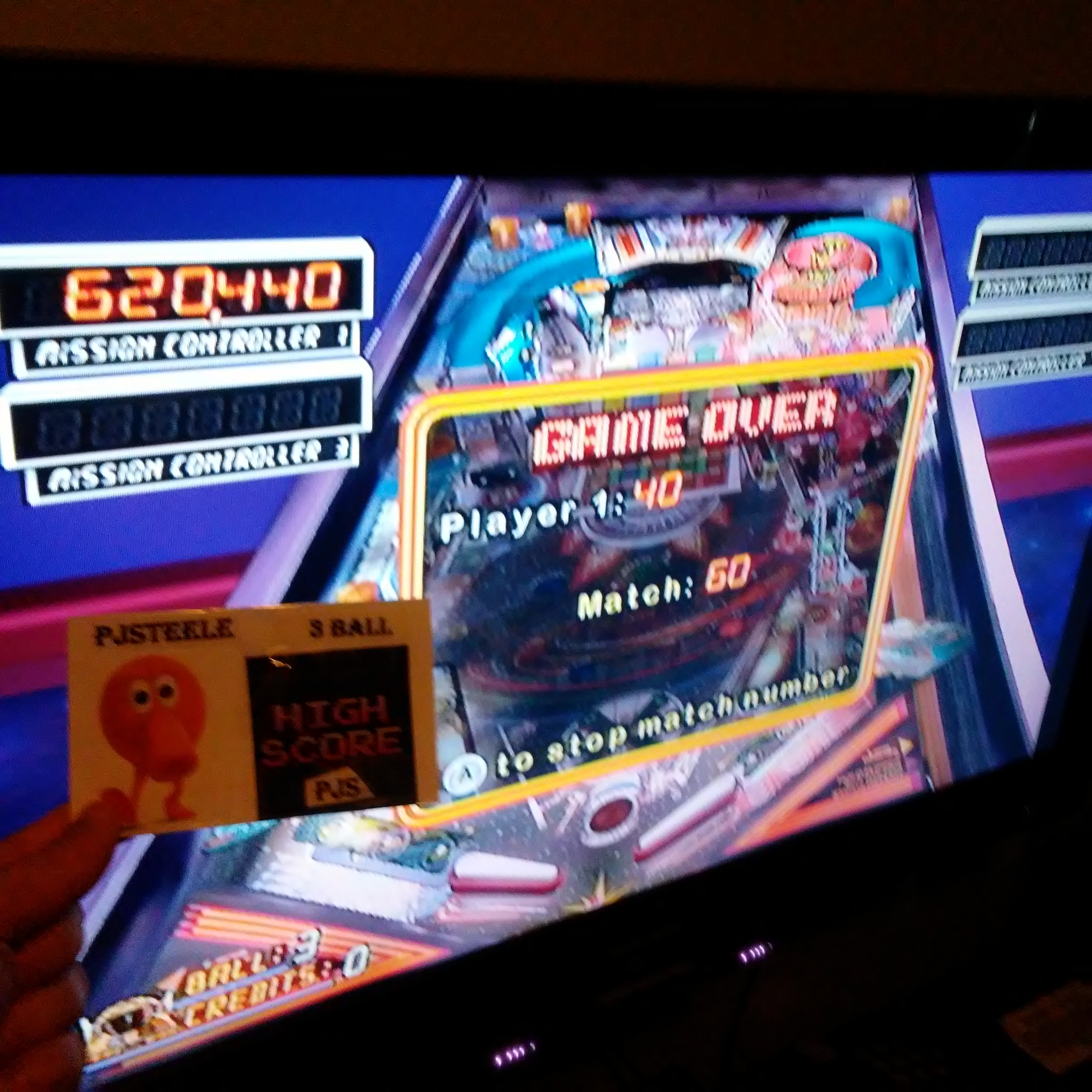 Pjsteele: Pinball Hall of Fame: The Williams Collection: Pinbot (Wii) 620,440 points on 2018-02-18 12:51:05