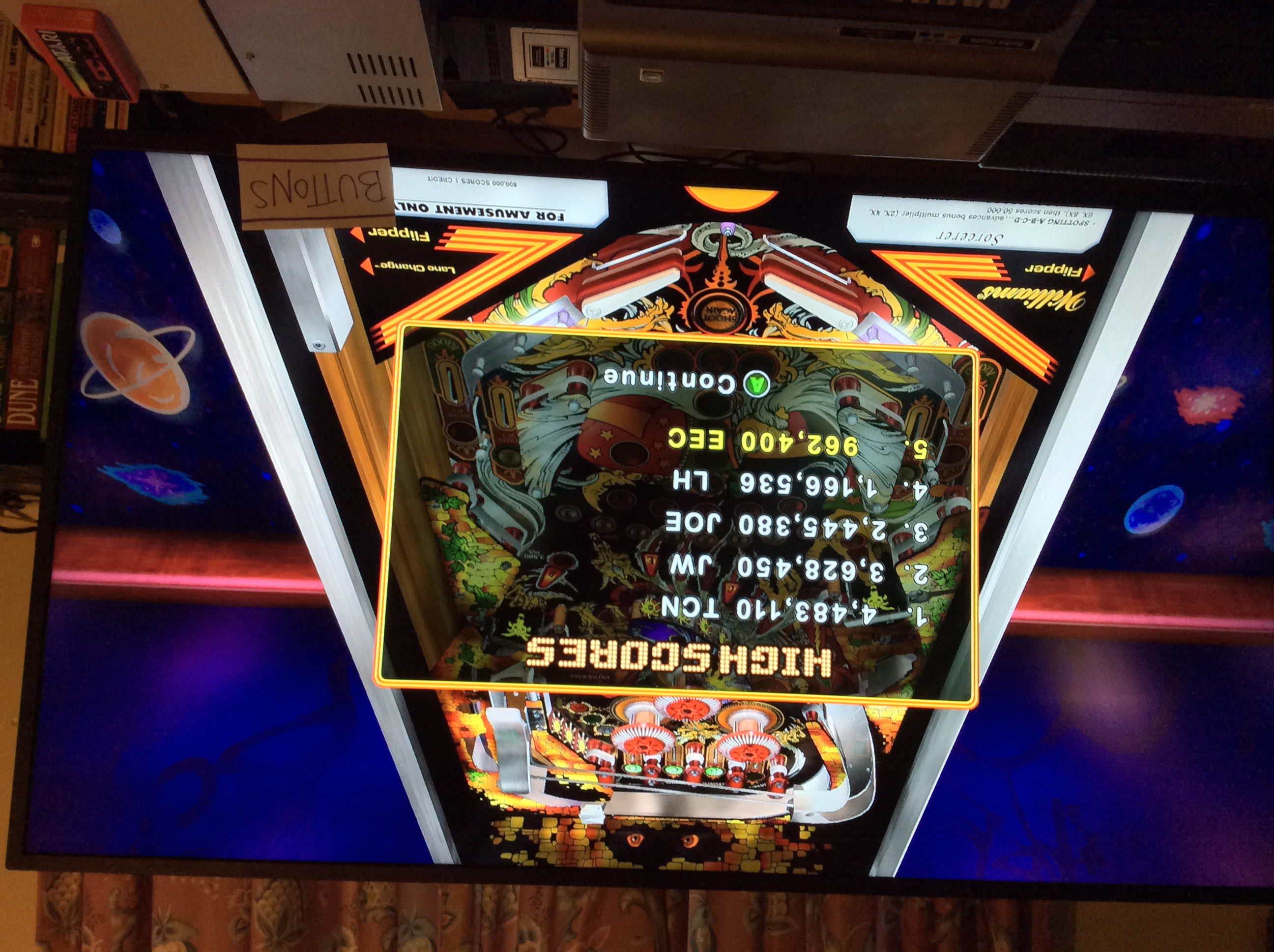 Pinball Hall of Fame: The Williams Collection: Sorcerer 962,400 points