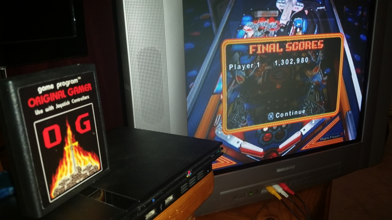 OriginalGamer: Pinball Hall of Fame: The Williams Collection: Space Shuttle (Playstation 2) 1,302,980 points on 2016-06-15 23:56:08