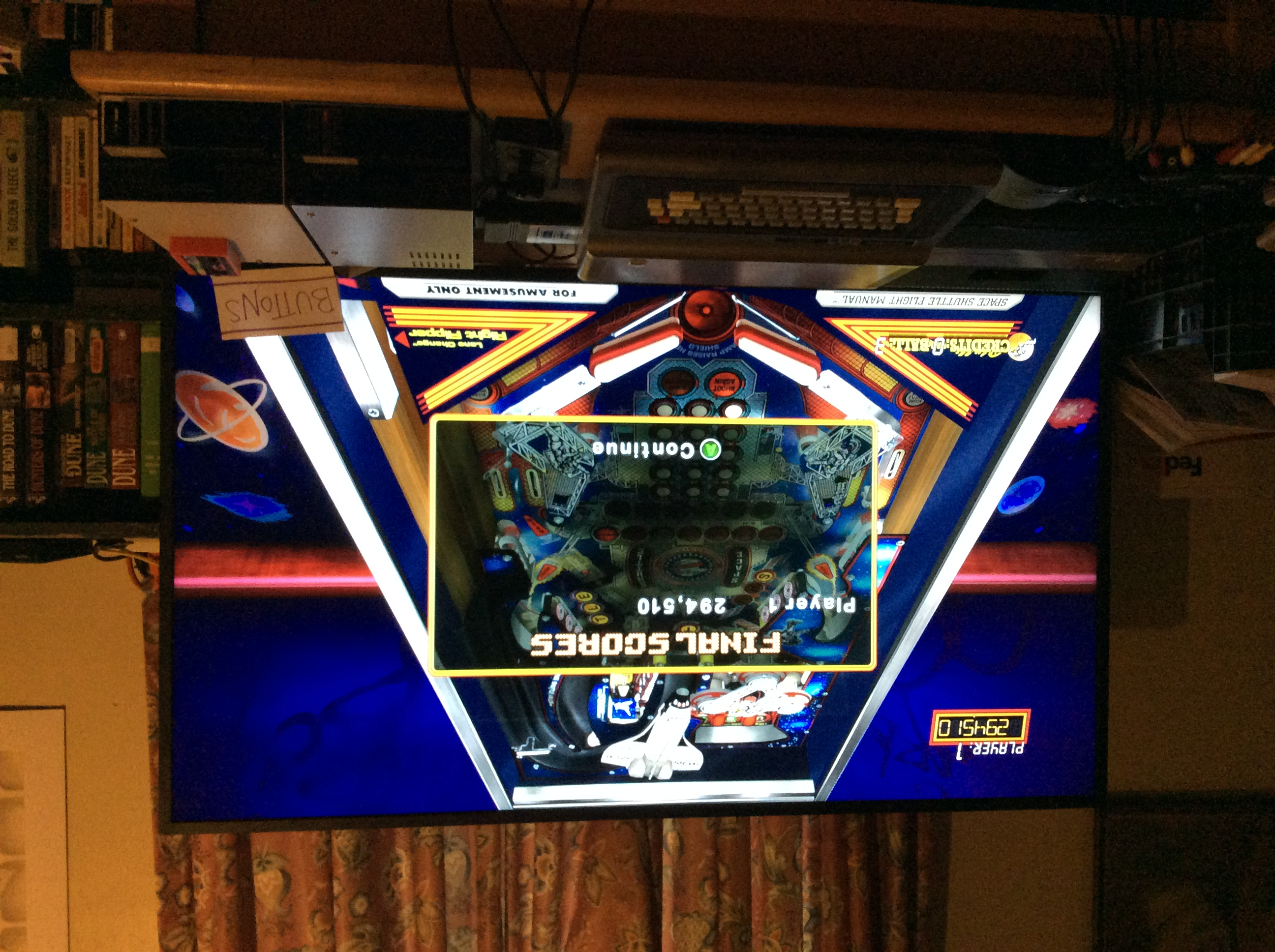 Pinball Hall of Fame: The Williams Collection: Space Shuttle 294,510 points