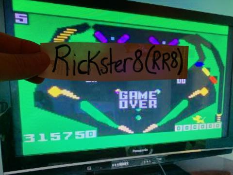 Rickster8: Pinball (Intellivision Flashback) 315,750 points on 2020-09-16 18:23:23