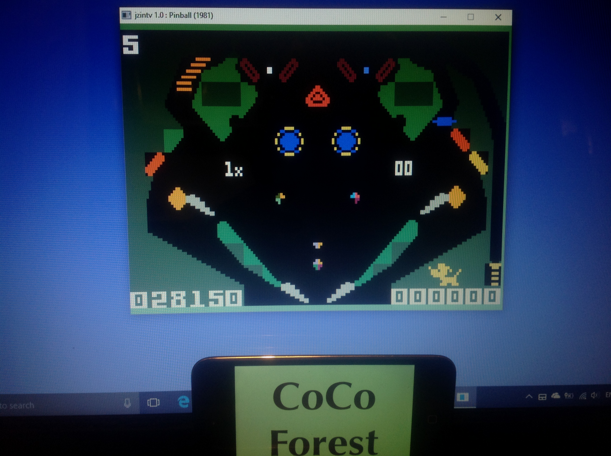 CoCoForest: Pinball (Intellivision Emulated) 28,150 points on 2018-01-25 11:10:51