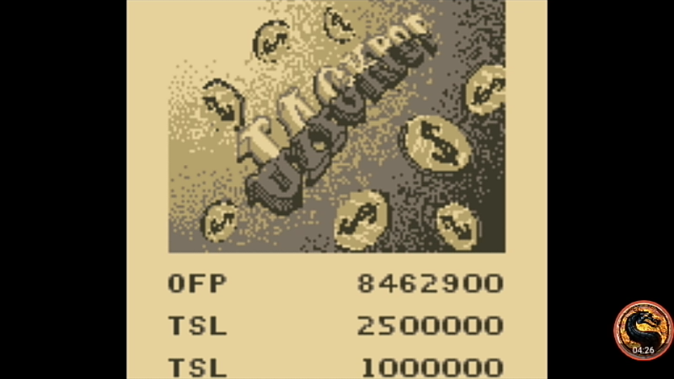 omargeddon: Pinball Mania: Jackpot (Game Boy Emulated) 8,462,900 points on 2019-11-24 19:28:16