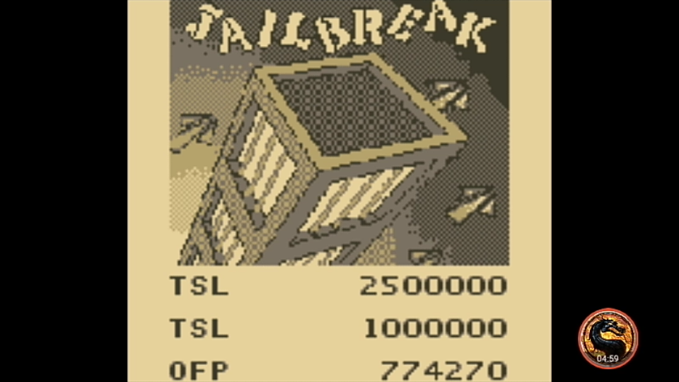 omargeddon: Pinball Mania: Jailbreak (Game Boy Emulated) 774,270 points on 2019-11-24 18:29:47