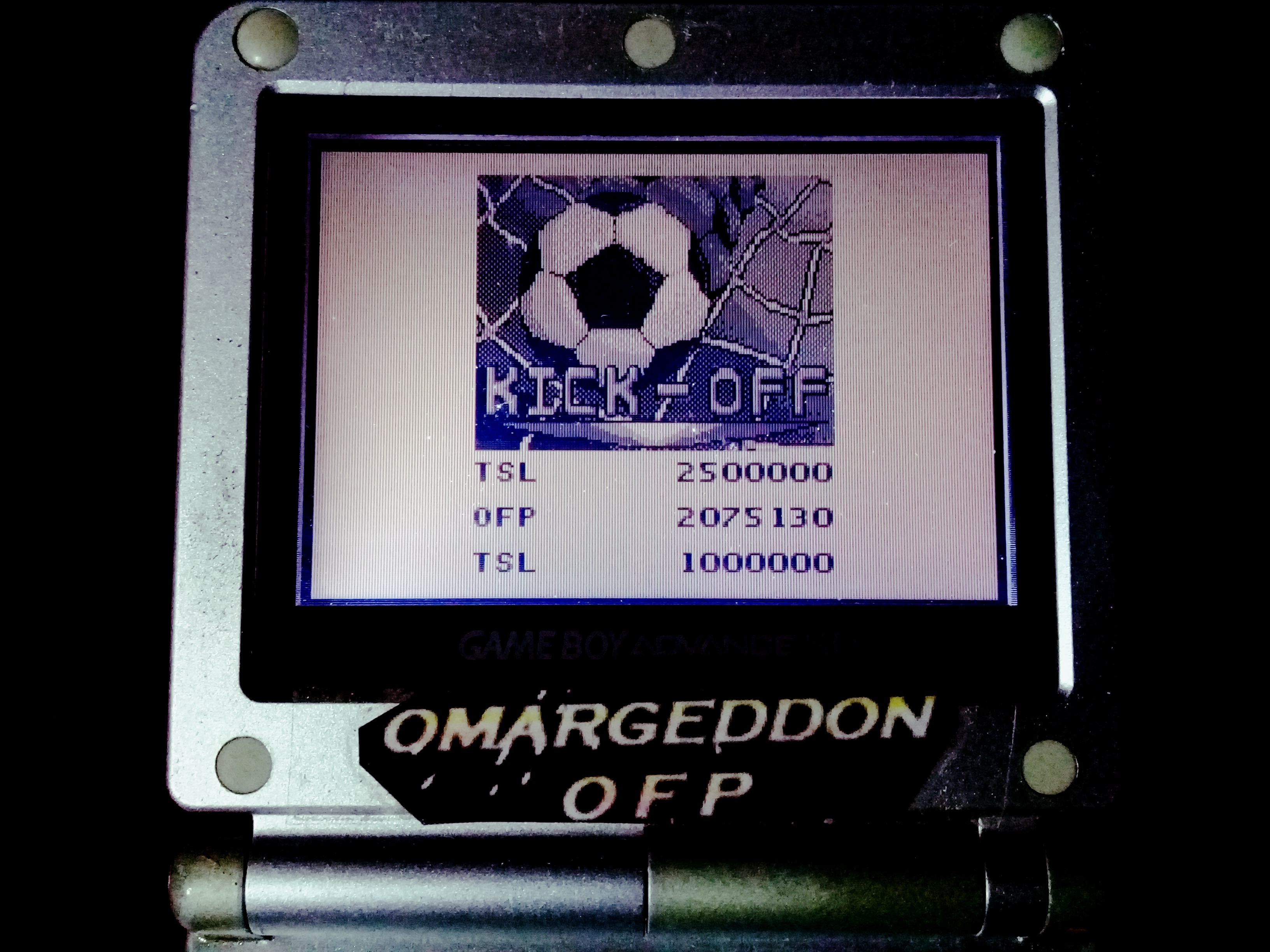 omargeddon: Pinball Mania: Kick-Off (Game Boy) 2,075,130 points on 2019-11-25 09:32:39