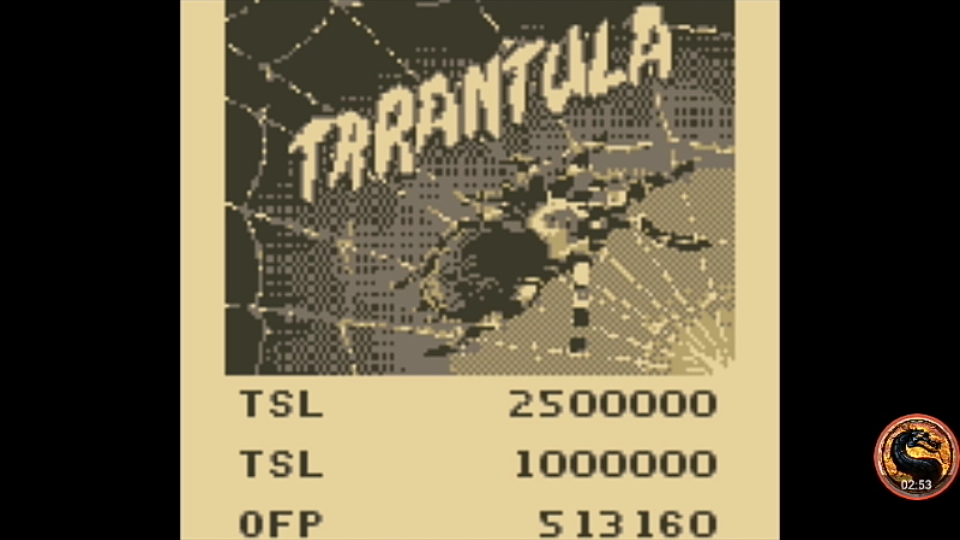 omargeddon: Pinball Mania: Tarantula (Game Boy Emulated) 513,160 points on 2019-11-24 18:27:57