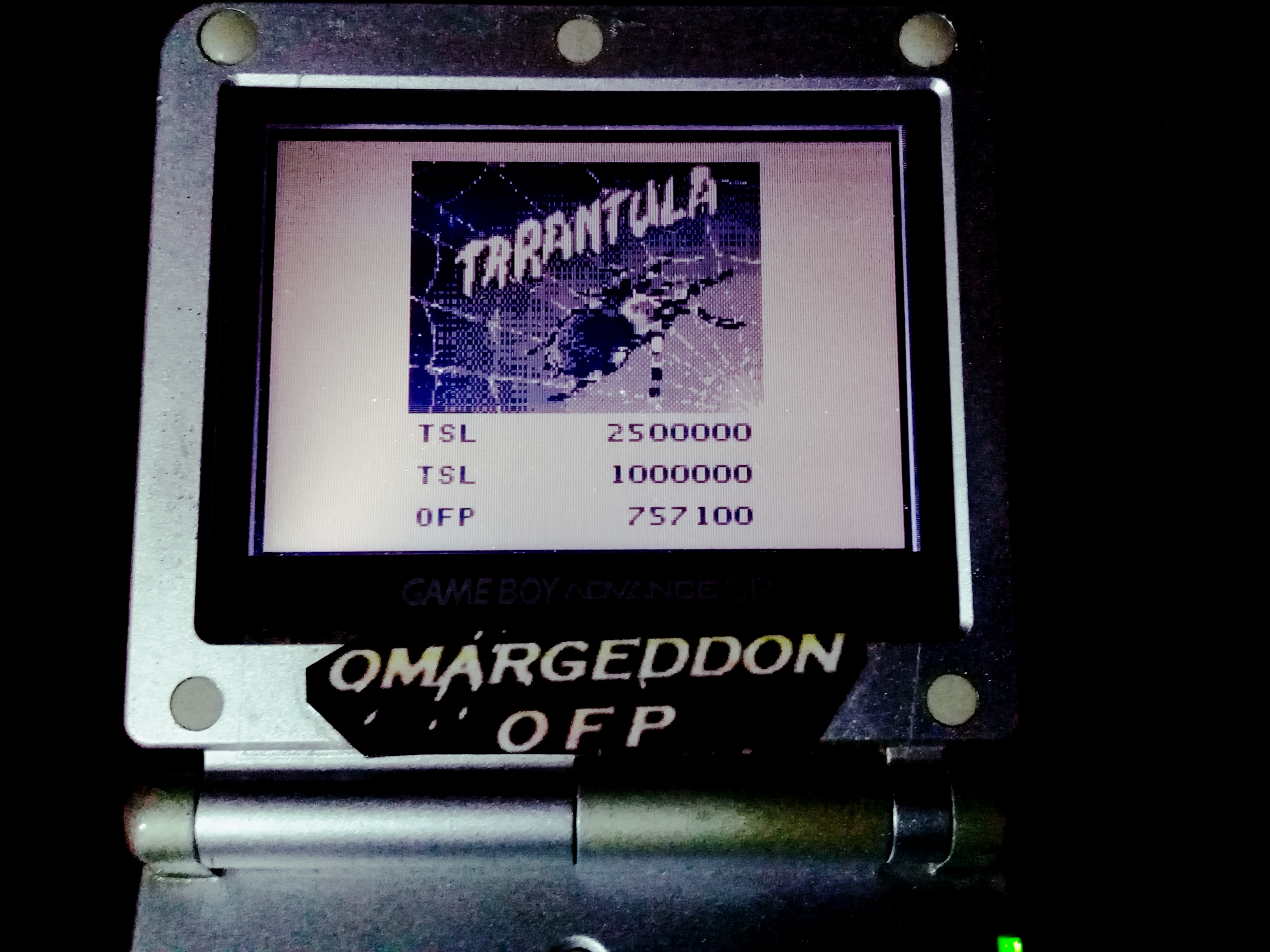 omargeddon: Pinball Mania: Tarantula (Game Boy) 757,100 points on 2019-11-25 07:50:44