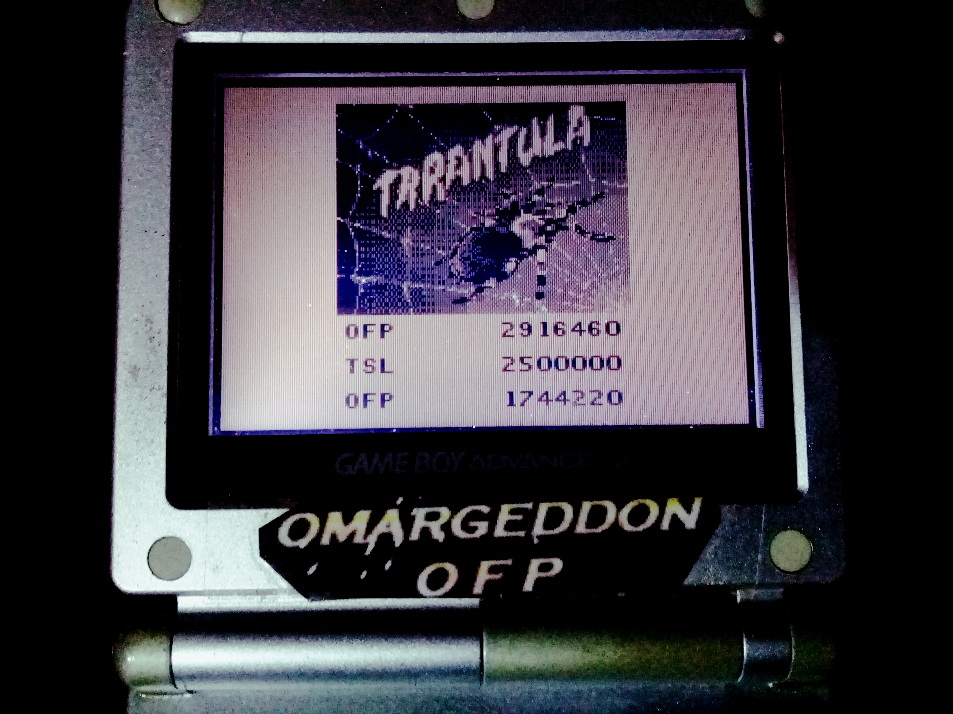 omargeddon: Pinball Mania: Tarantula (Game Boy) 2,916,460 points on 2020-07-25 01:45:02