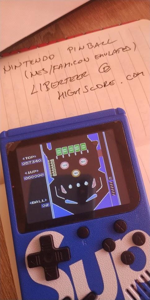 liberteer: Pinball (NES/Famicom Emulated) 57,340 points on 2021-05-24 16:30:28