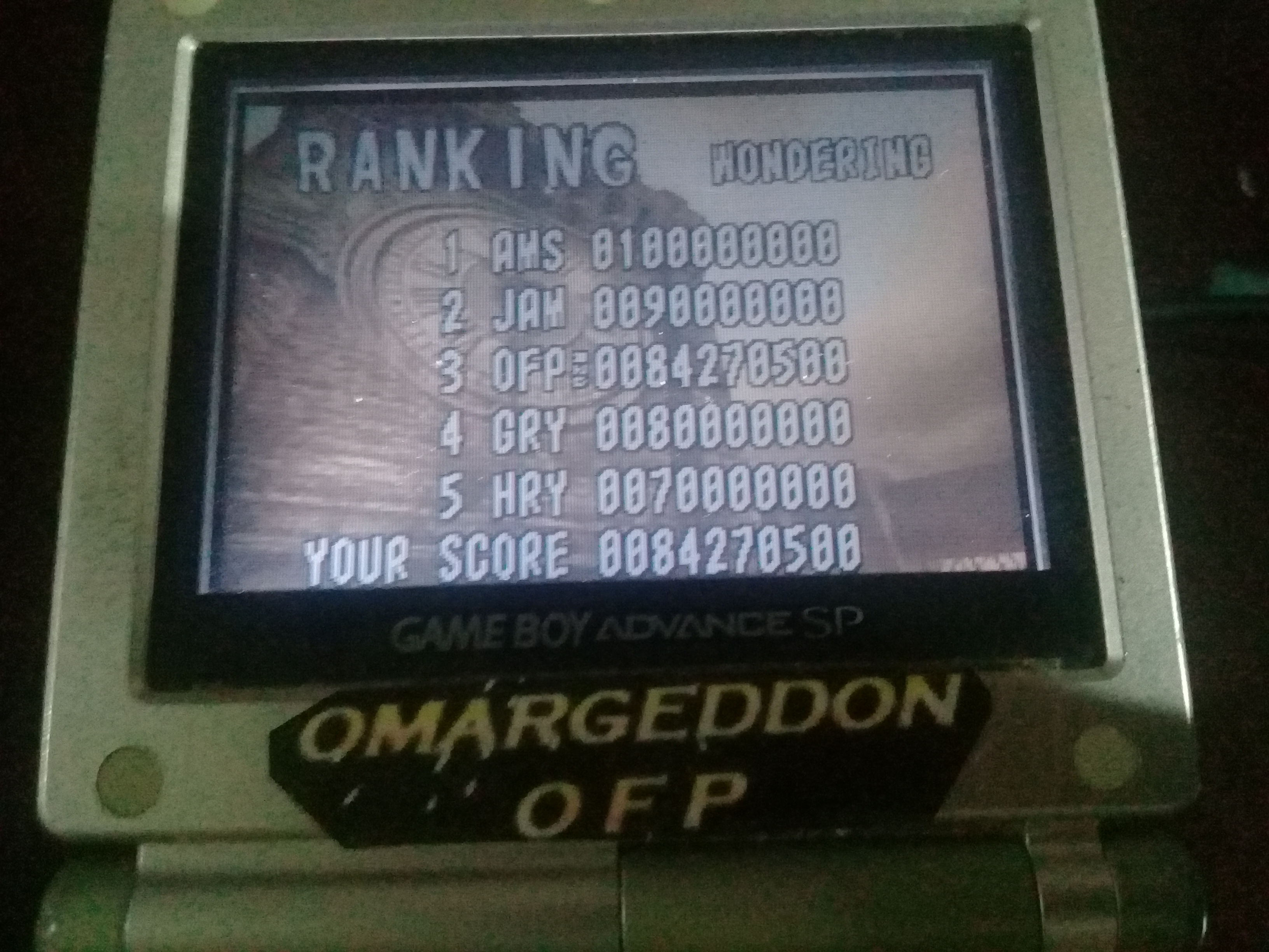 omargeddon: Pinball Of The Dead: Normal: Wondering [Fast] (GBA) 84,270,500 points on 2019-11-03 15:57:33