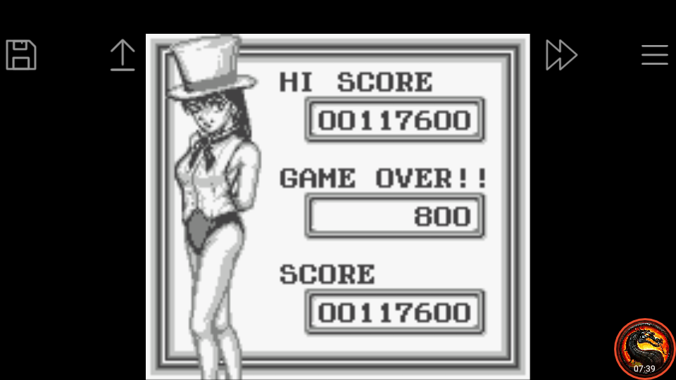 omargeddon: Pinball Party [Extra Game] (Game Boy Emulated) 117,600 points on 2020-09-14 03:17:27