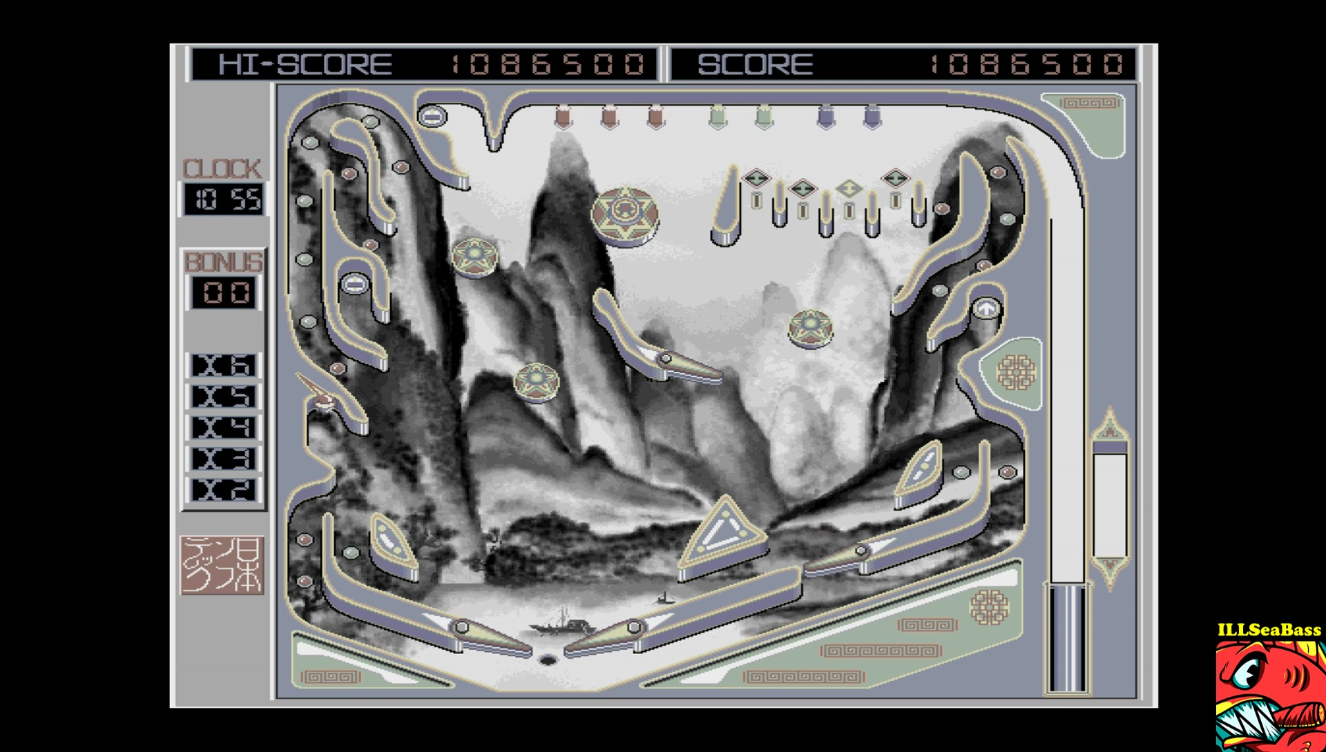 ILLSeaBass: Pinball Pinball (Sharp X68000 Emulated) 1,086,500 points on 2017-03-19 23:10:32