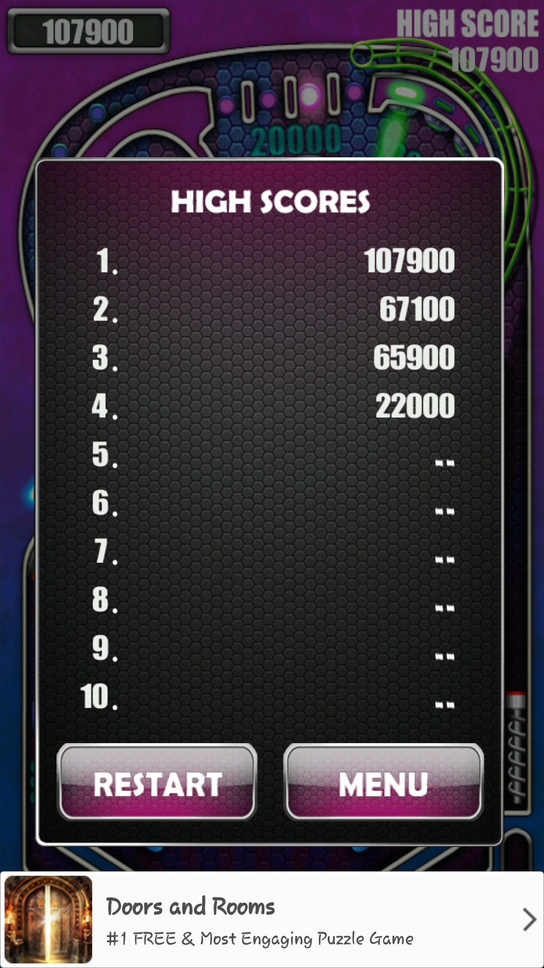 phoenixlord: Pinball Pro: Carnival (Android) 107,900 points on 2016-08-15 09:07:21