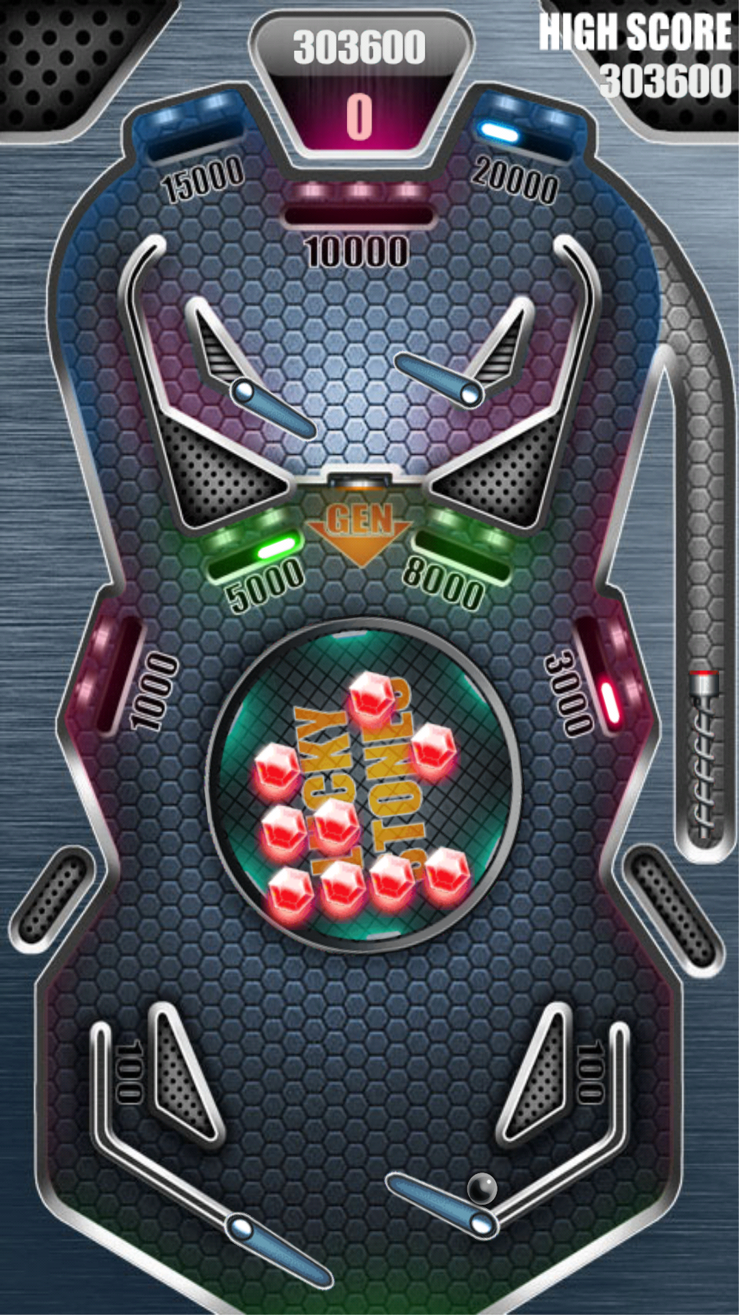 phoenixlord: Pinball Pro: Lucky Stones (Android) 303,600 points on 2016-08-15 00:29:15