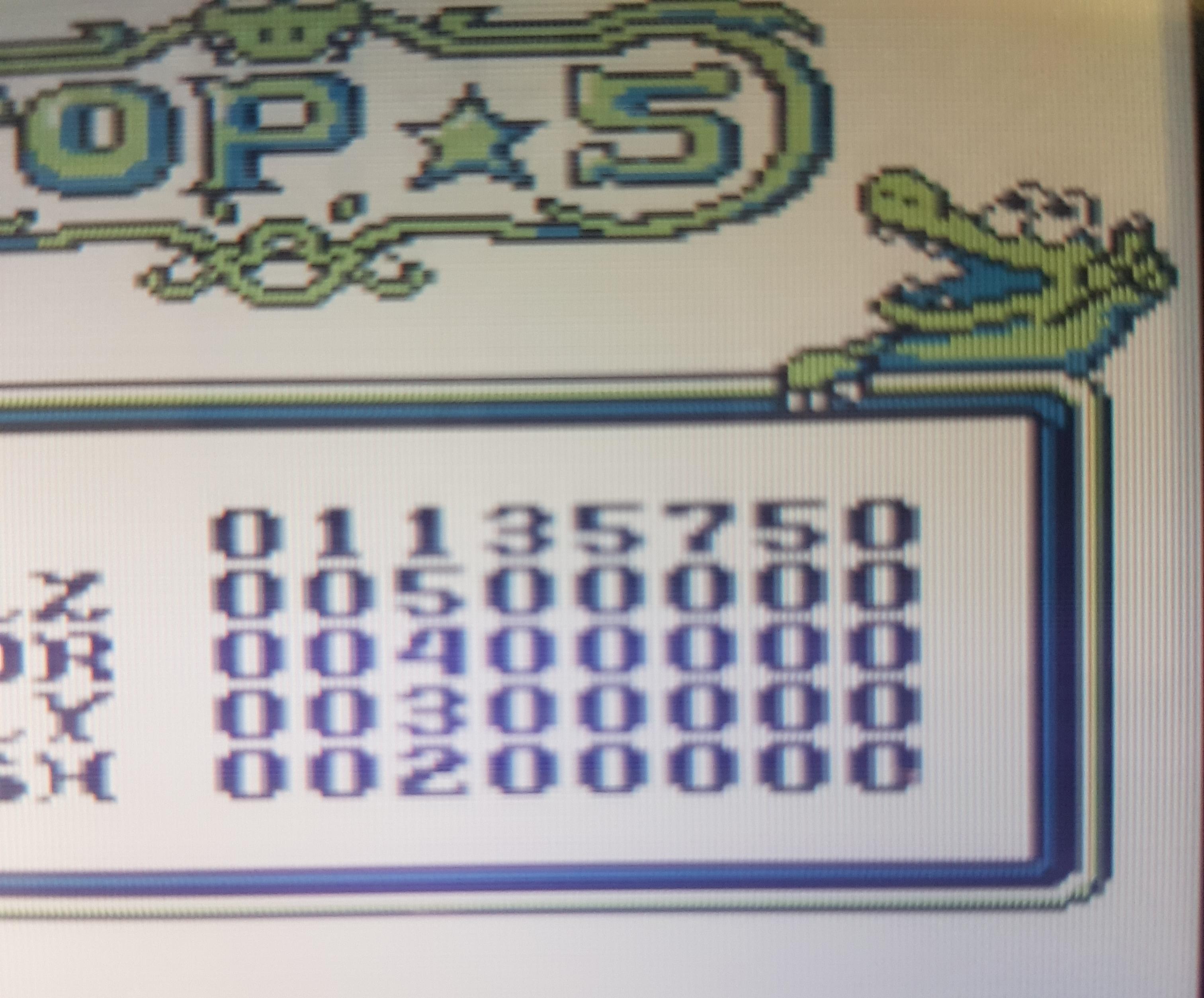 Pinball: Revenge of the Gator 1,135,750 points