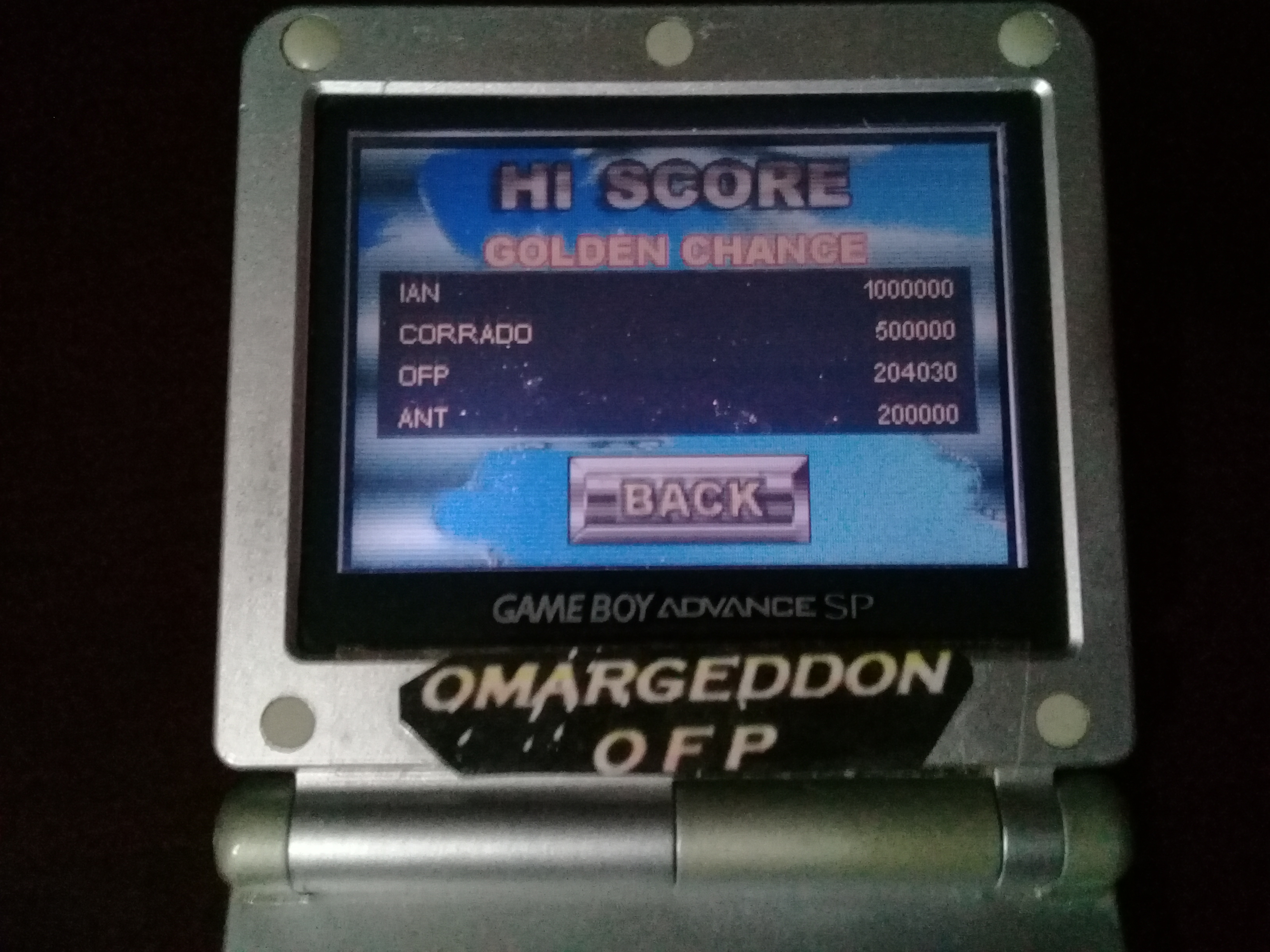 omargeddon: Pinball Tycoon: Golden Chance (GBA) 204,030 points on 2019-09-15 17:36:25