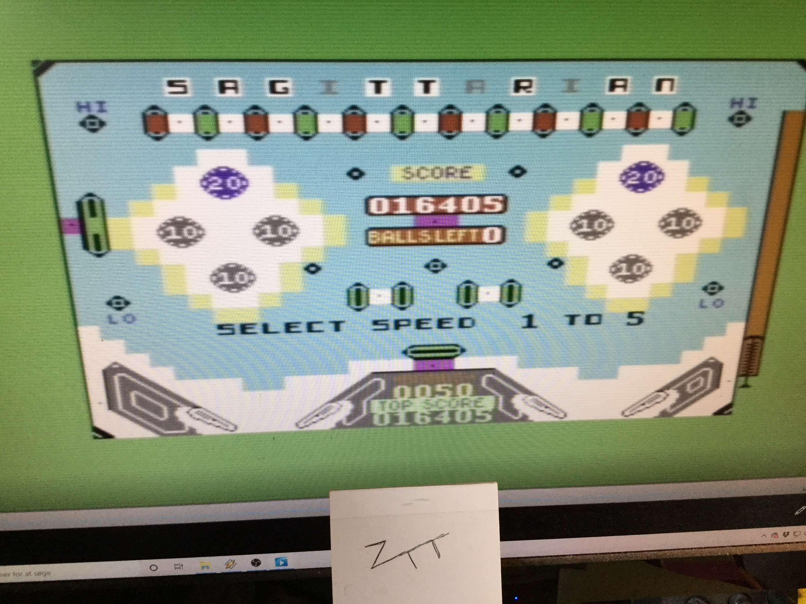 Frankie: Pinball Wizard: Speed 1 (Commodore 64 Emulated) 16,405 points on 2021-01-16 05:01:05