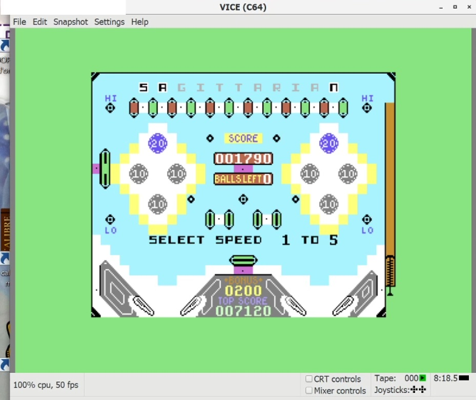 LuigiRuffolo: Pinball Wizard: Speed 1 (Commodore 64 Emulated) 20,895 points on 2021-01-17 16:15:31